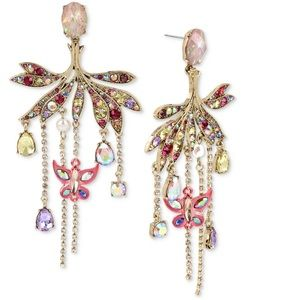 Betsey Johnson Butterfly Chandelier Earrings